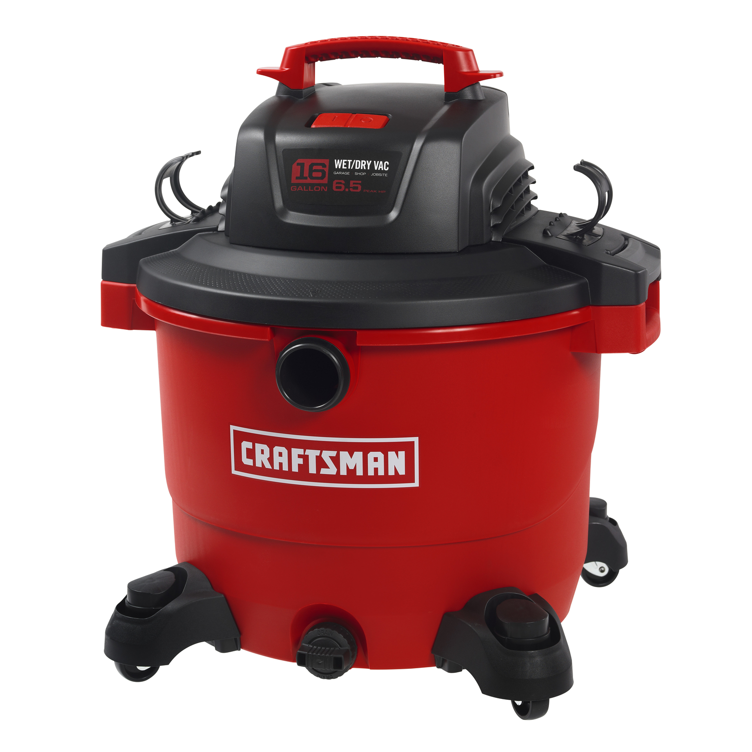 craftsman 16 gal  corded 6 2 hp 12 amps 120 volt red 27