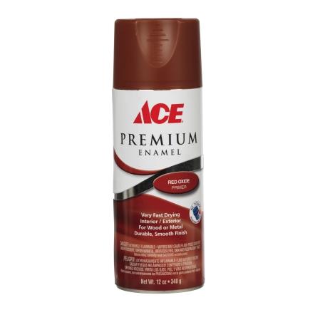 ace 12oz red oxide primer premium enamel spray paint. Black Bedroom Furniture Sets. Home Design Ideas