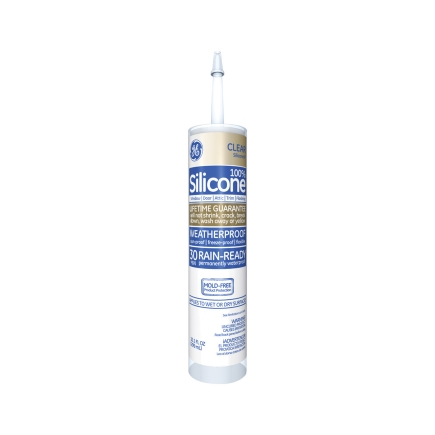 G E Silicone Window Amp Door Sealant In Clear