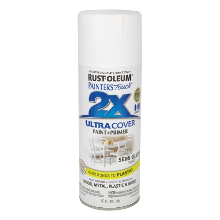 Rust Oleum Painters Touch Ultra Cover 2x 12 Oz Spray Paint Semi