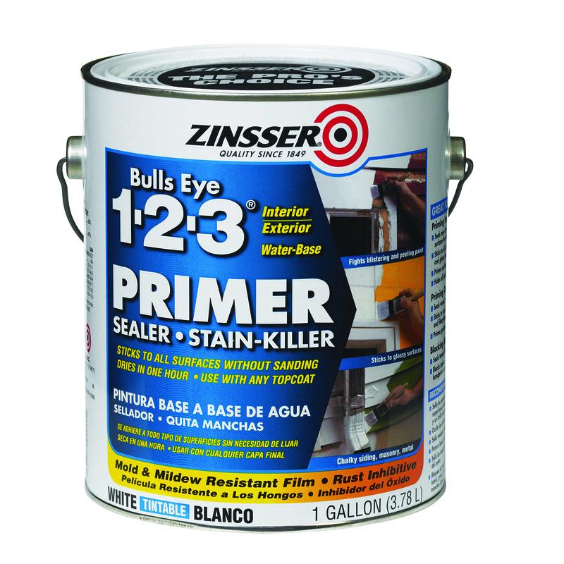 Zinsser Bulls Eye 123 White Primer And Sealer 1 Gal