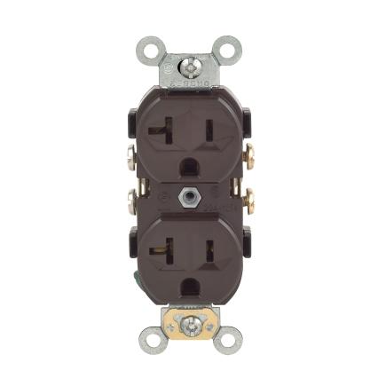 Leviton  20 amps 125 volt Gray  GFCI Outlet  5-20R  1 pk