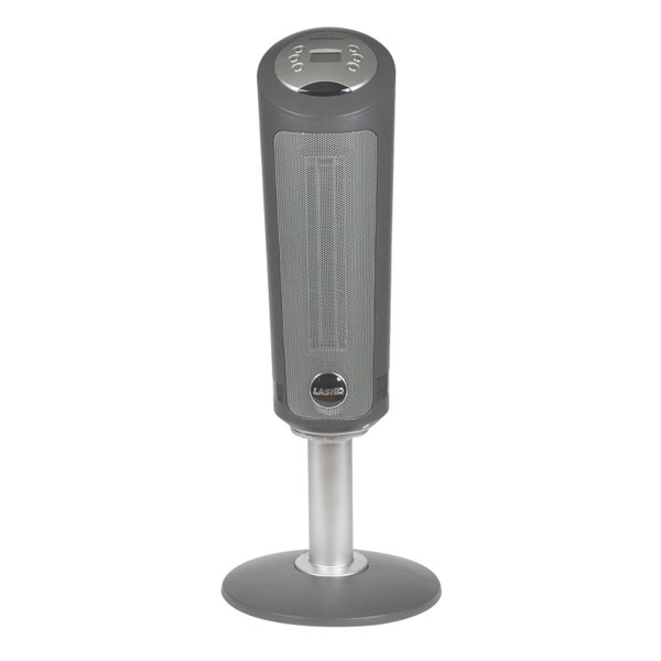 Pedestal Electric Heaters : Lasko in digital ceramic pedestal heater with remote