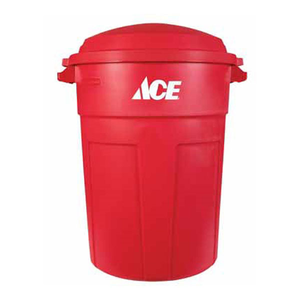 Ace Refuse Can 32 Gal Plastic Red