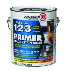Zinsser Bulls Eye 123 Water-Based Interior and Exterior Primer and Sealer 1 gal. White(2001)
