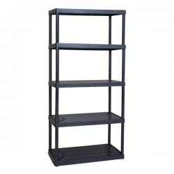 MaxIt 5 Tier Ventilated Plastic Shelving 18in D x 36in W x 72in H