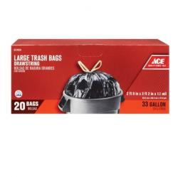 Ace 33 Gal Large Drawstring Trash Bag