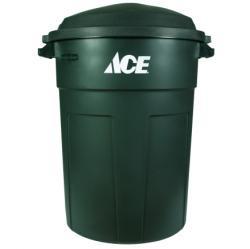 32 Gal Green Heavy Duty Trash Can