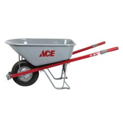 Ace Steel Single Wheel Wheelbarrow 6 cu. ft.(PS6F-ACE)