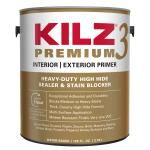 View: KILZ Premium White Flat Water-Based Primer and Sealer 1 gal.