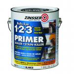 View: Zinsser Bulls Eye 123 Water-Based Interior and Exterior Primer and Sealer 1 gal. White(2001)