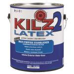 View: Kilz 2 White Water-Based Primer and Sealer 1 gal. For Brick, Painted Metal, Glossy Surfaces, Dry
