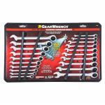 View: GearWrench 12 Point Metric and SAE Ratcheting Combination Wrench Set 20 pc.