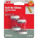View: Ace Nail-On Cushioned Glide with Plastic Base in Various Sizes