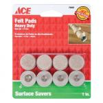 View: Ace Round Nail-On Heavy Duty Felt Glides in Various Sizes