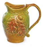 View: PITCHER WITH LEAVES RELIEF