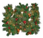 PRELIT ARTIFICIAL BROOKHAVEN GARLAND
